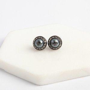 Tory Burch Black Natalie Stud Earrings
